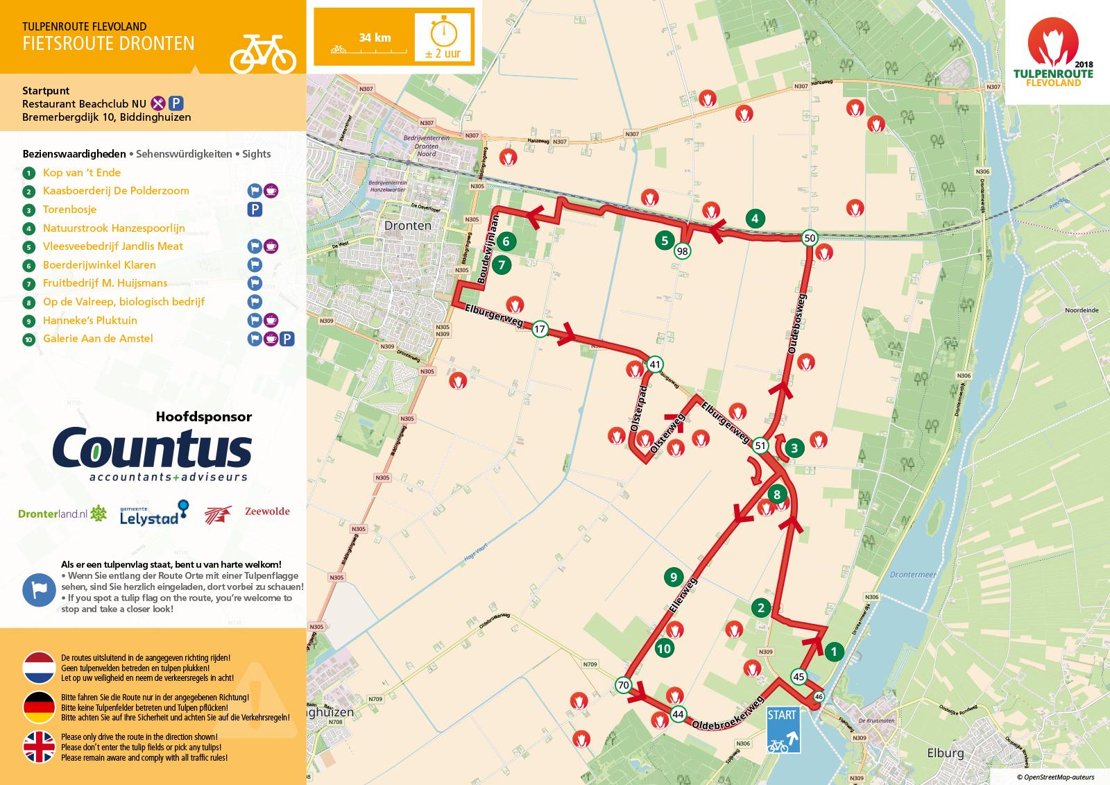 route tekenen op kaart