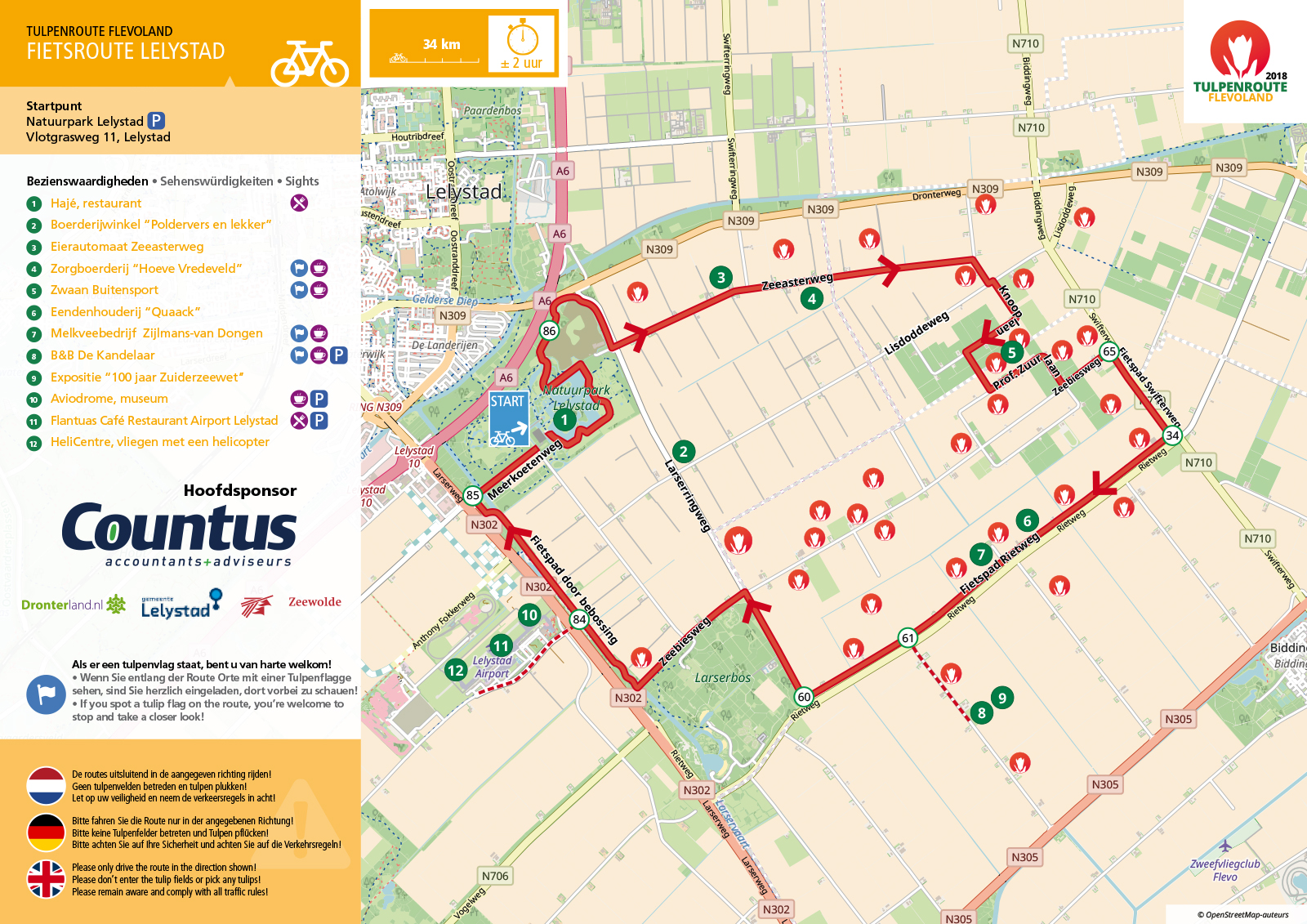 bicycle route Lelystad ...